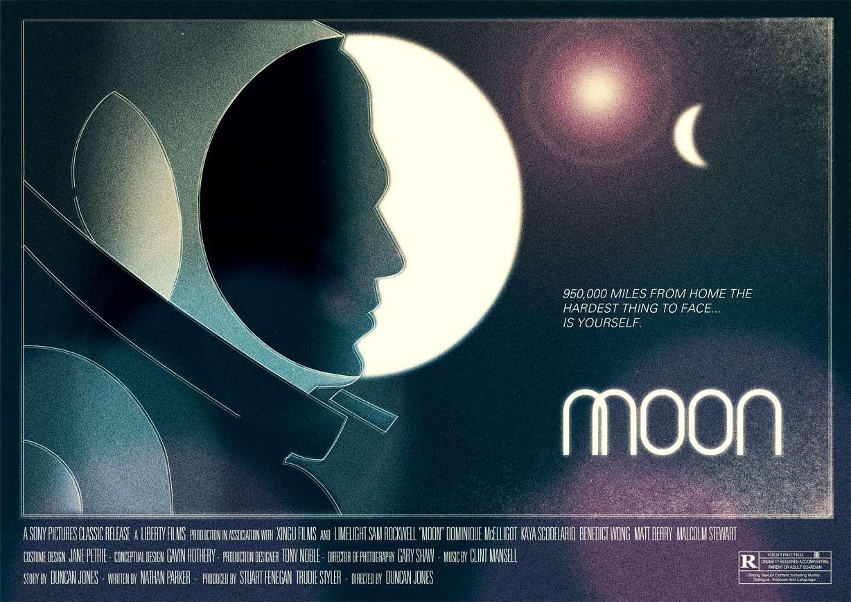 Movie Posters 2009: The Geeky Nerfherder: Movie Poster Art: Moon (2009