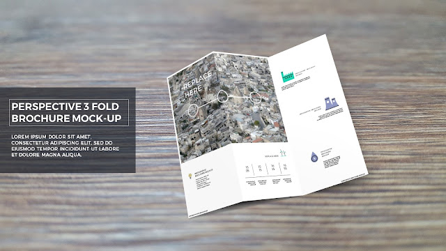 Infographic 3 Fold Brochure Mockup Template will makes your presentation in style.