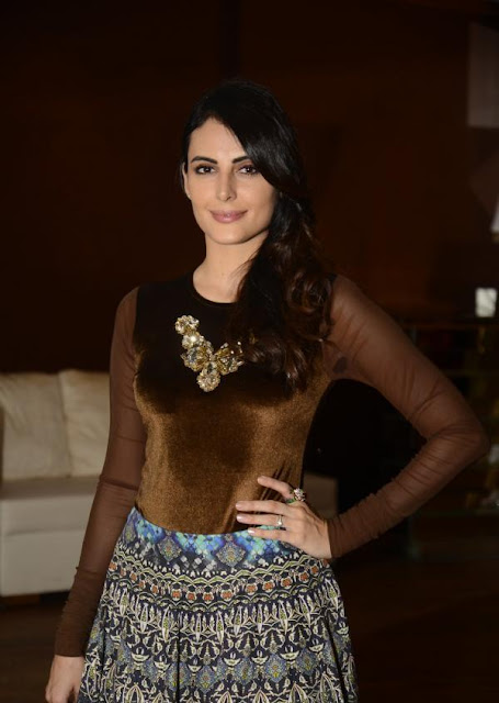 Mandana Karimi in Multi Pleated Skirt at Joya Luxury and Lifestyle Exhibition Announcement