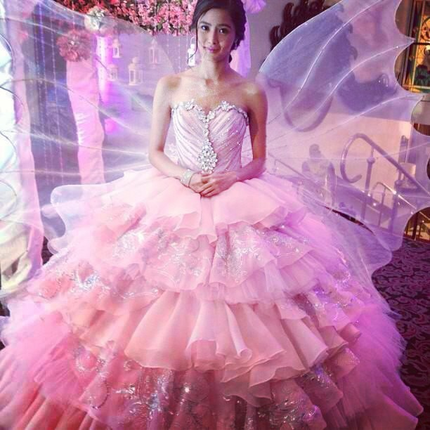 the gallery for gt kim chiu cocktail dress pink