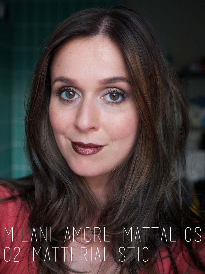 Metallic lipstick: Milani Matterialistic swatches and review