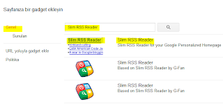 Genel slim RSS reader