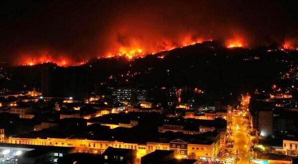 Fire in Valparaíso in 2014