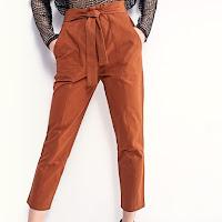Pantalon cargo taille haute