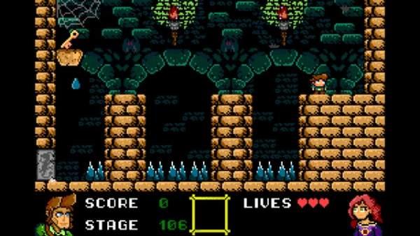 'Nogalious' es un juego de plataformas y mazmorras para MSX