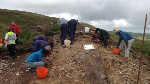 Bronze Age stone tools unearthed in Clwydian range hillforts dig
