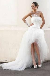 vestido mullet volumoso para noivas