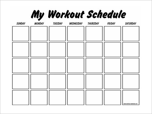 Workouts log templates printable in PDF - Excel Template - printable workout sheet