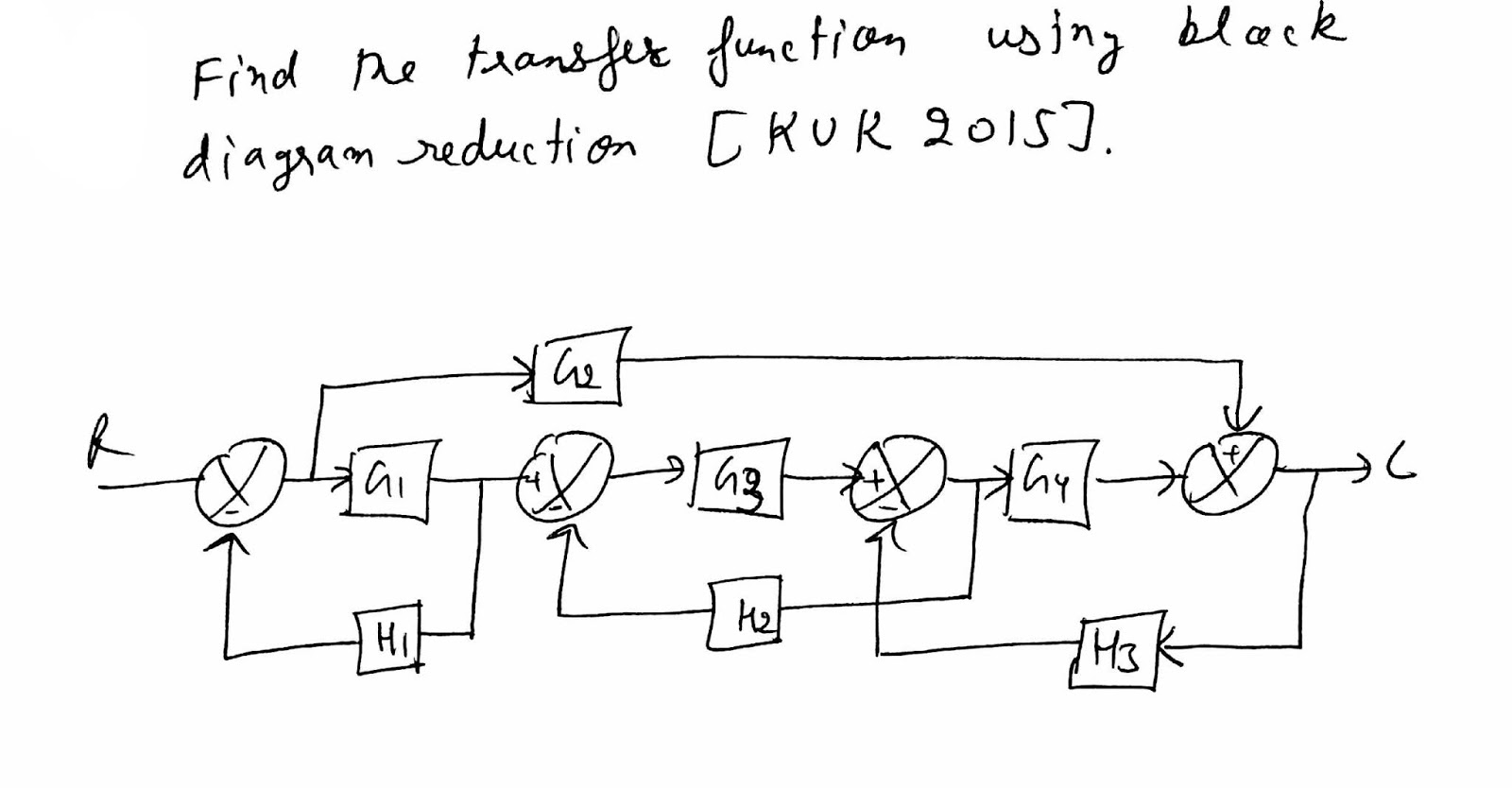 block diagram reduction examples and solutions ao smith 2 speed motor wiring control system method kuk 2015