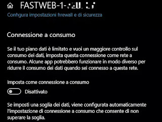 limitare connessione windows 10