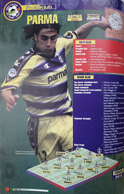 PARMA CLUB PROFILE FABIO CANNAVARO DIFENSORE
