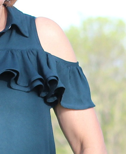 A Mimi G pattern, Simplicity 8341, made as a top with Style Maker Fabrics' rayon twill.