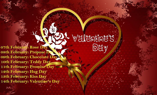 Valentines Day Week List 2018