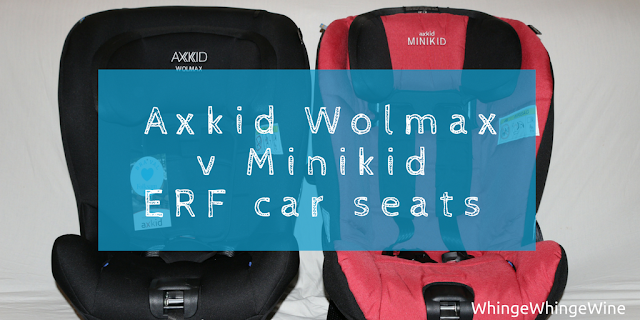 Which is a better extended rear facing car seat? The Axkid Wolmax or the Axkid Minikid. What are the differences? Rear facing car seat under £250 25kg