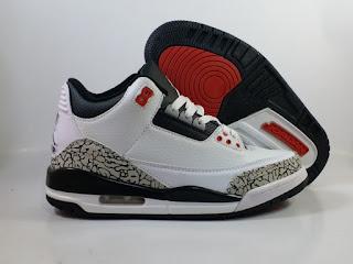 Jordan 3 White Infrared  Jual Sepatu Basket Replika Import Premium
