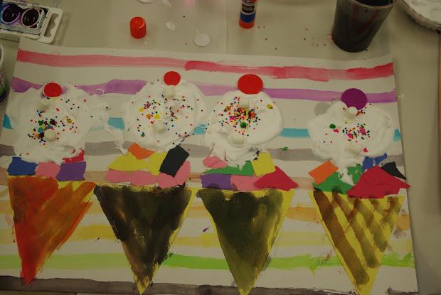 Ice Cream Cone Preschool Art