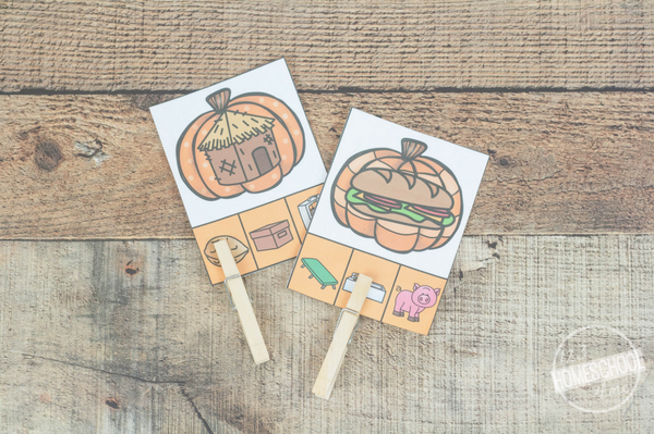 pumpkin clip cards