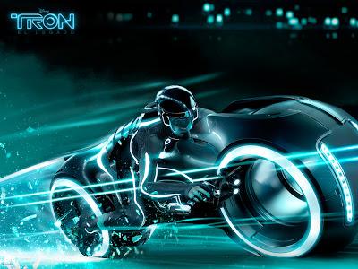 wallpaper moto estilo tron legacy