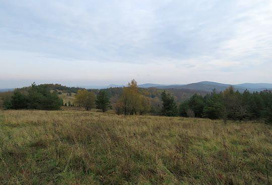 Panorama z Łysej Góry południowo-wschodnim.