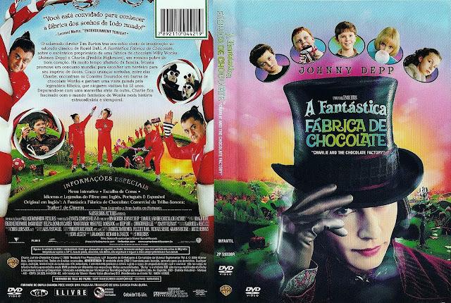 Capa DVD A Fantástica Fábrica De Chocolate