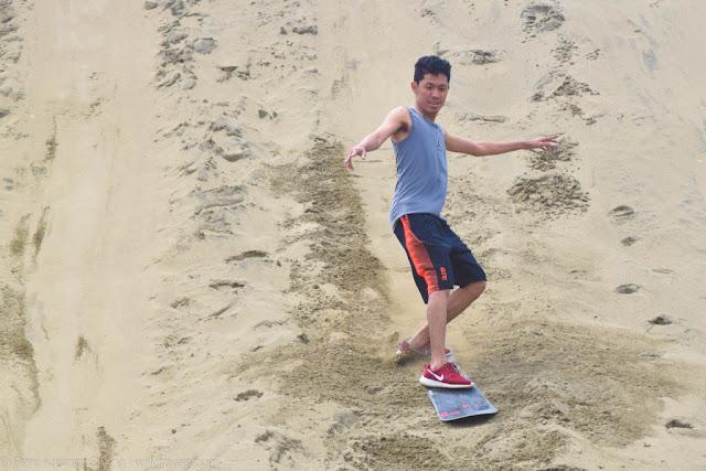 Surfing the sand dunes of Ilocos Norte