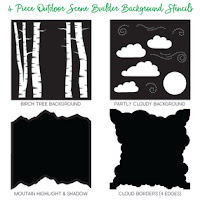 Outdoor Scene Builder Stencils