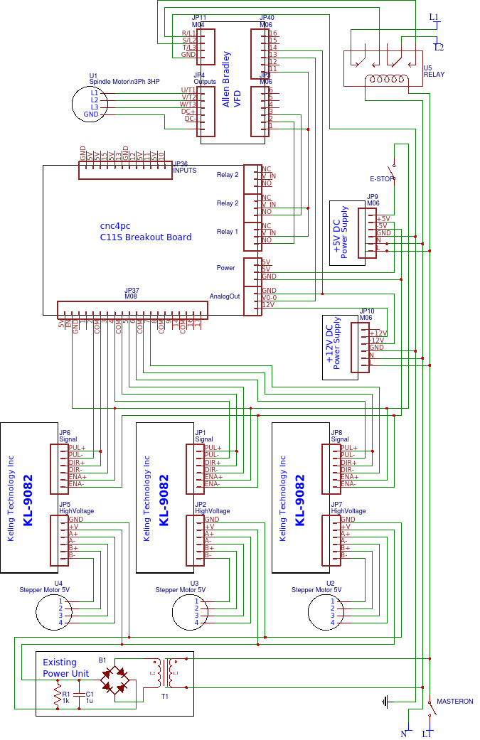 on mach4 stepper motor driver wiring diagram