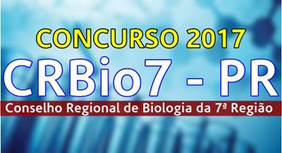 Concurso CRBio 7 região PR 2017