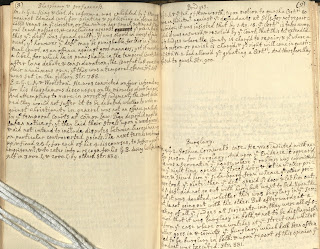 Manuscript annotations on added pages