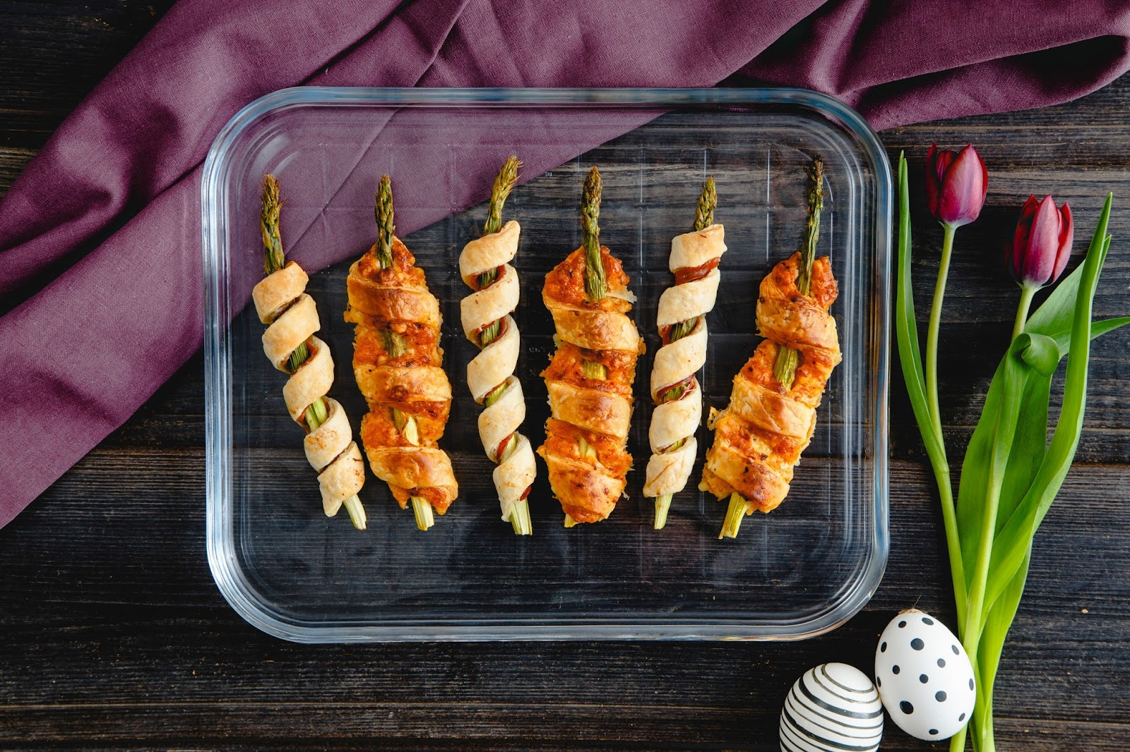 Asparagus And Pimento Cheese Puff Pastry Twists