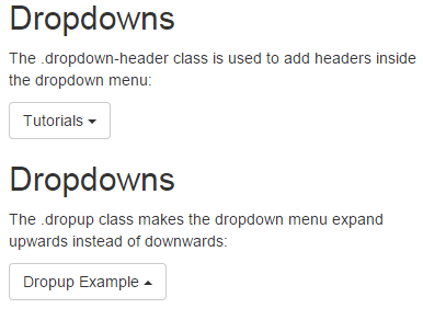 Infallible Techie: Bootstrap Dropdowns