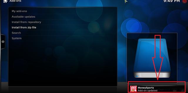 تحديث إضافة MoneySports لمشاهدة أفضل القنوات الرياضية على برنامج KODI