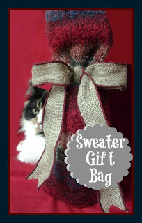 Sweater Gift Bag at sewlicioushomedecor.com