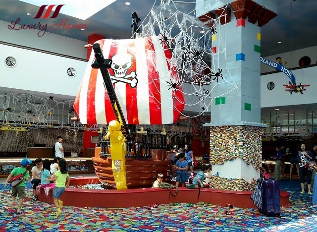 legoland hotel malaysia resort reception area pirate ship