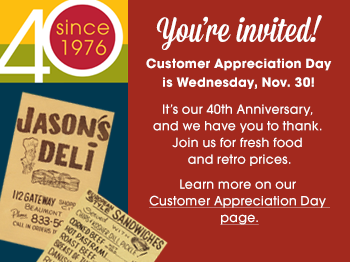 Eat Like It's 1976: A Jason's Deli Anniversary Celebration & Giveaway