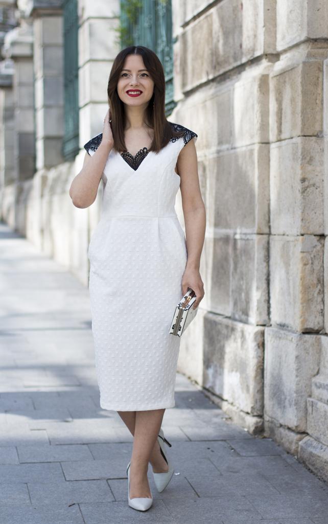 cum sa porti o rochie alba