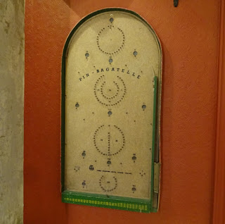 I spotted a Pin-Bagatelle board next to one of the dart boards downstairs too