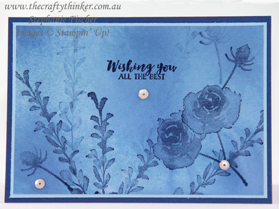 #thecraftythinker #stampinup #firstfrost #monochromecard #cardmaking #watercolourbackground , First Frost, Monochrome card, watercolour background, Stampin' Up Australia Demonstrator, Stephanie Fischer, Sydney NSW