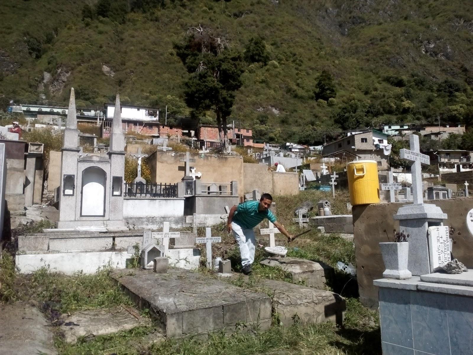 Concejo municipal bolivariano de valera limpieza del for Cementerio parque jardin la puerta