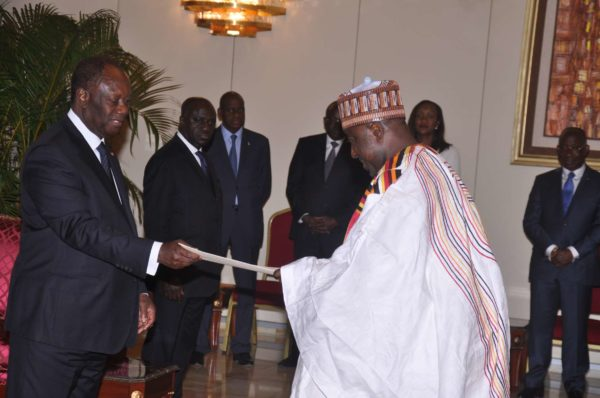 When Ambassador Ibrahim Isah presented letters of credence to President Alassane Ouattara in September 2017