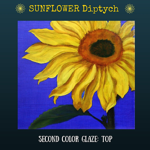 Second color glaze TOP Sunflower