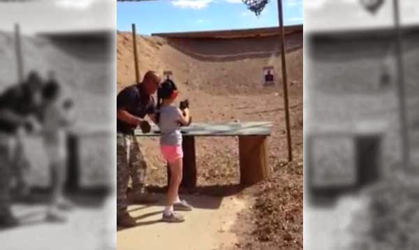 Girl accidentally kills shooting instructor with an Uzi