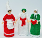 Christmas Peg Doll Knitting Pattern