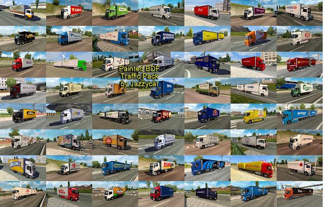 ets 2 painted bdf traffic pack v5.0 screenshots 3