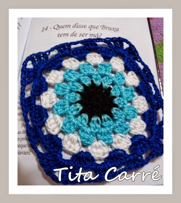 Square Olho Grego em crochet para espantar todos os males