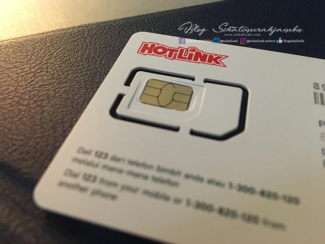 Tukar Sim Card Hotlink Maxis 4G LTE