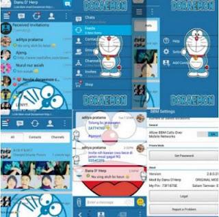 Download BBM Mod Doraemon Terbaru v 3.3.7.97 Apk