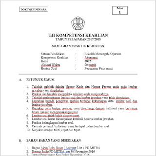 Soal Ukk Akuntansi Tahun Pelajaran 2017 2018 Berdasarkan Kurikulum 2013 Gurusmk Net