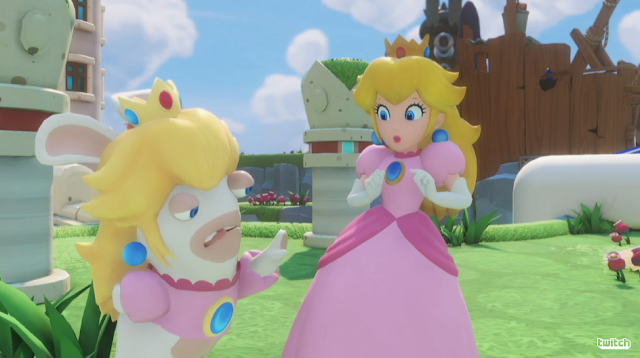 Princess Peach Rabbid dress Mario + Rabbids Kingdom Battle trailer
