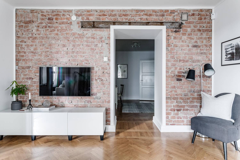 Aranżacja Mieszkania Z Ceglaną ścianą Codziennie Szczypta